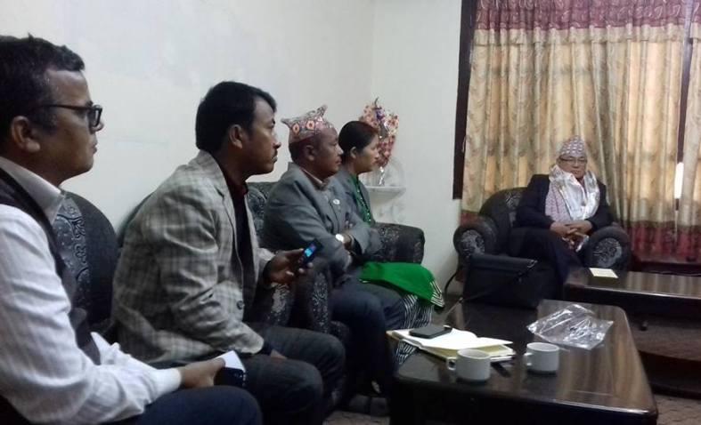 Radhika Tamang with Ram Bahadur Thapa